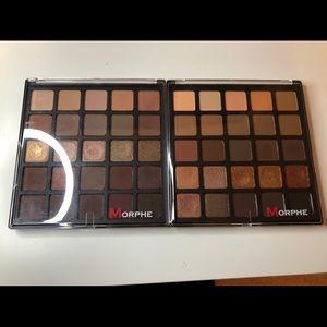 Original morphe 25A and 25B eyeshadow palettes